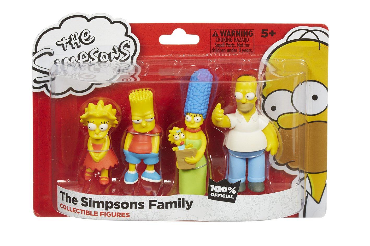 Los Simpsons familia - figuras 4p Pack - Homer, Marge, Bart y Lisa [