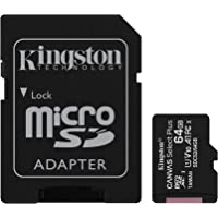 Kingston Canvas Select Plus Tarjeta microSD, SDCS2/64GB Class 10 con Adaptador SD