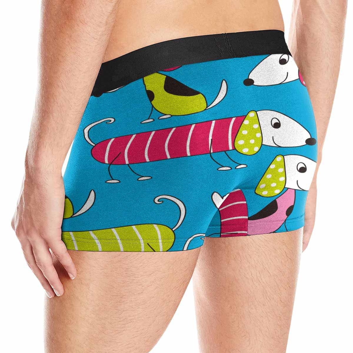 INTERESTPRINT Boxer Briefs Mens Underwear Colorful Dog Pattern XS-3XL