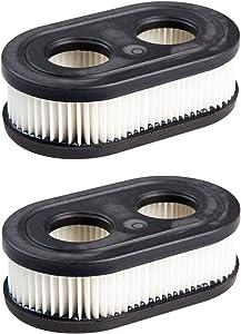 Briggs & Stratton Genuine OEM 798452 Oval Air Filter Cartridge (2 Pack)