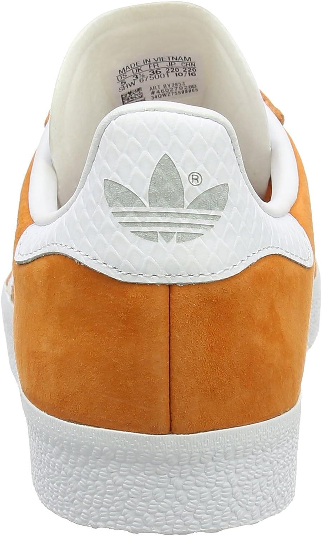adidas gazelle kaki y naranja