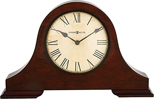 Howard Miller Humphrey Mantel Clock 635-143 Hampton Cherry Wood with Quartz Movement