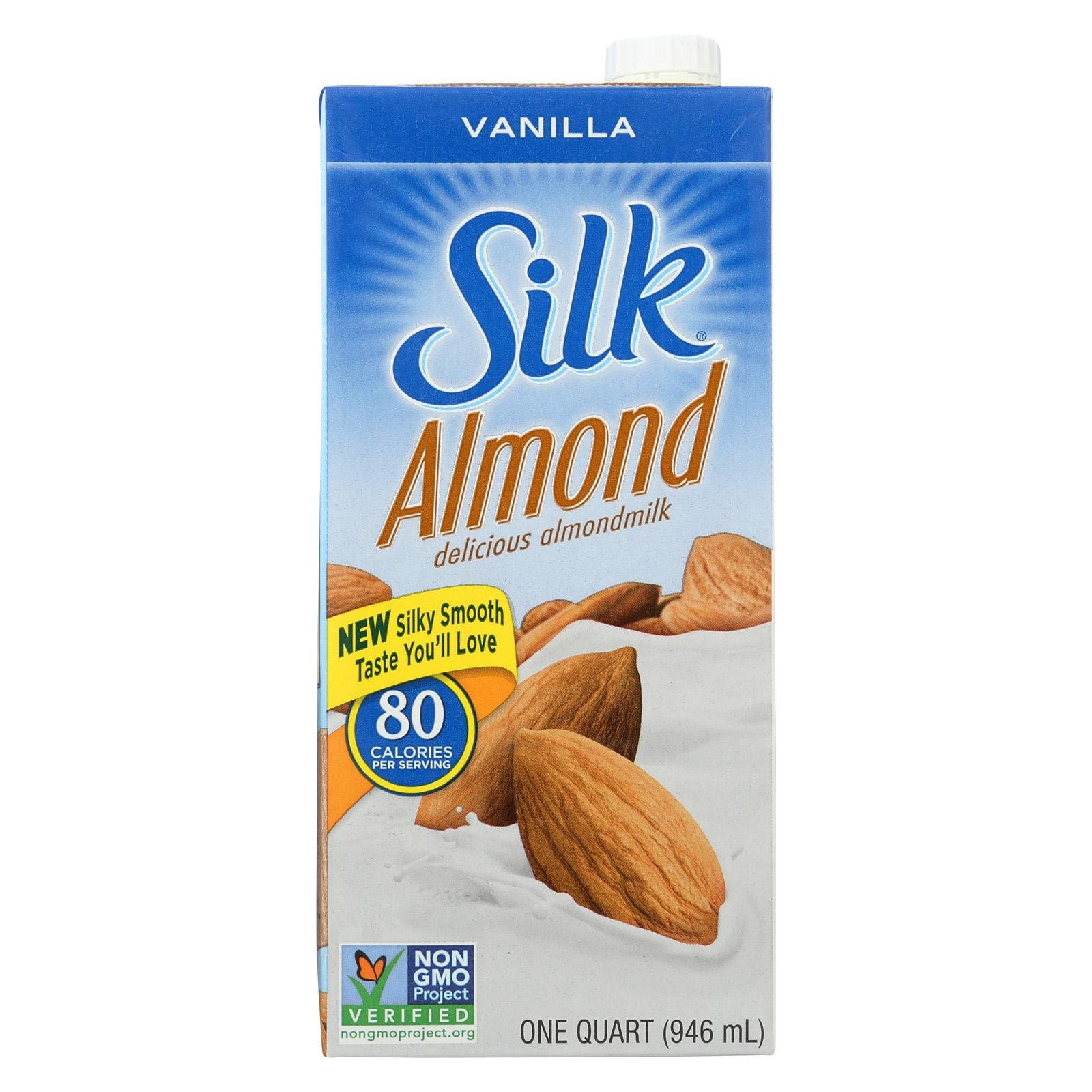 Silk Vanilla Pure Almond Milk, 32 Ounce Aseptic Pack - 6 per case.
