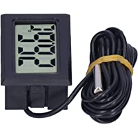 Wired Thermometer, Easy To Read Gauge Instruments ABS Material Temperature Measurement LCD Thermometer for Hospital for…