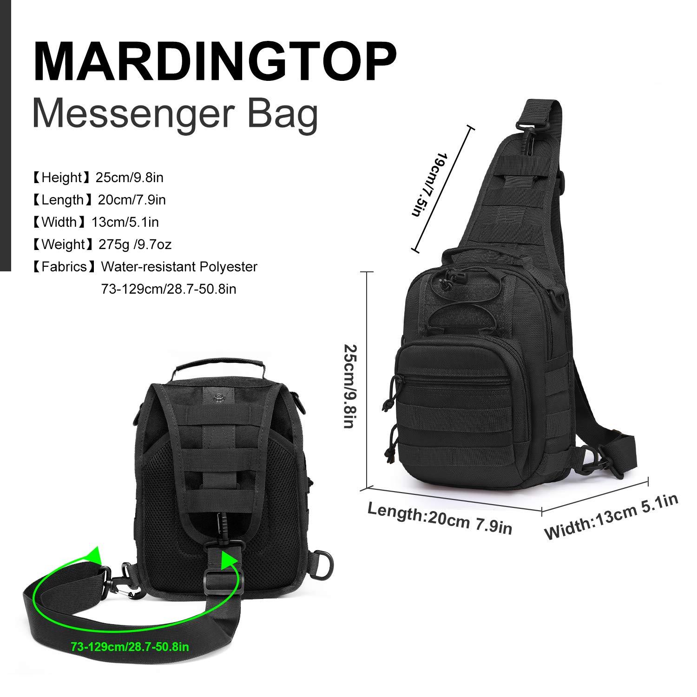 Mardingtop Lightweight Chest Bag Shoulder Bag Messenger Bag Sling Backpack Outdoor Sports Bag Hiking Bike Travel Bag