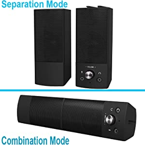 Computer Speakers,Small High Sound Quality Stereo Large Volume Speakers for Desktop/PC / PS4 / Smartphone,USB Powered Speakers for Computer