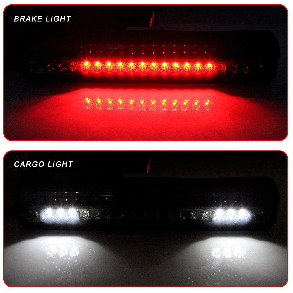 1988-1998 Chevy GMC C//K C10 Silverado Sierra High Mount Brake Light Smoke Lens LED Light LED 3rd Brake Light Cargo Light