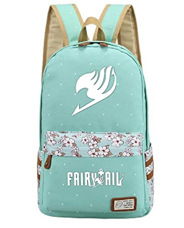 cc2931843a0 Image Unavailable. Image not available for. Color  YOYOSHome Luminous  Japanese Anime Cartoon Cosplay Bookbag College Bag Backpack School Bag (Fairy  Tail)