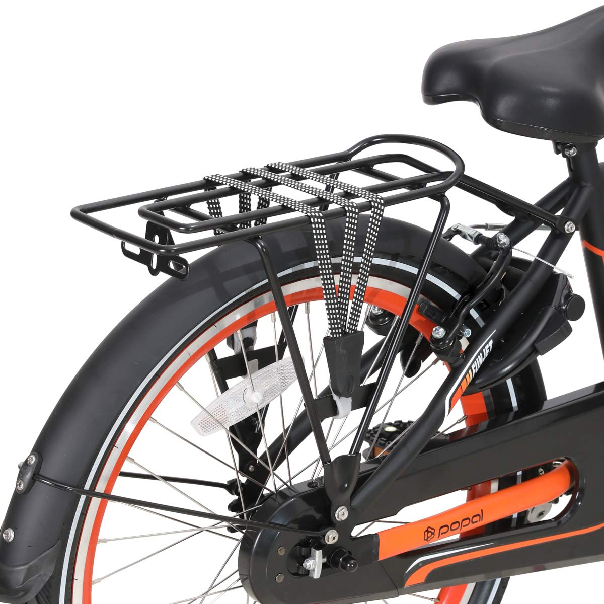 Hiland 20//22//26 Inch City Commuter Bike with Rear Rack and Lights