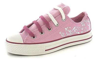 908a0438e5fcd3 Converse Junior Ct Glitz Foil Girls Trainers - Pink White - 13.5 ...