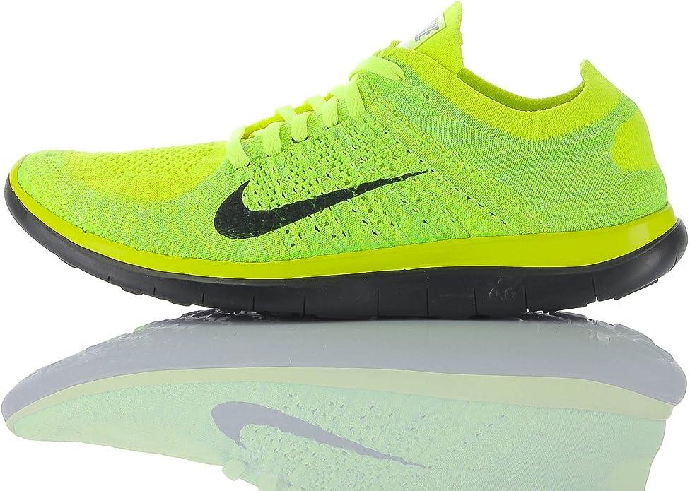 Nike Zapatillas Free 4.0 Flyknit Amarillo Flúor EU 43: Amazon.es: Zapatos y complementos