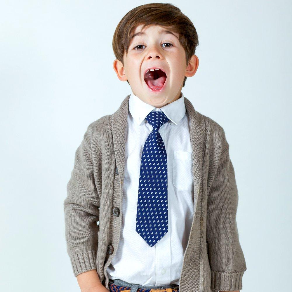 2-5y Peppercorn Kids Boys Drop Pattern Necktie-Dark Blue-S//m