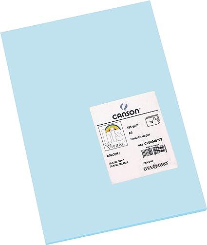 Oferta amazon: Canson Iris - Cartulina, 50 Unidades, Color Azul Cielo