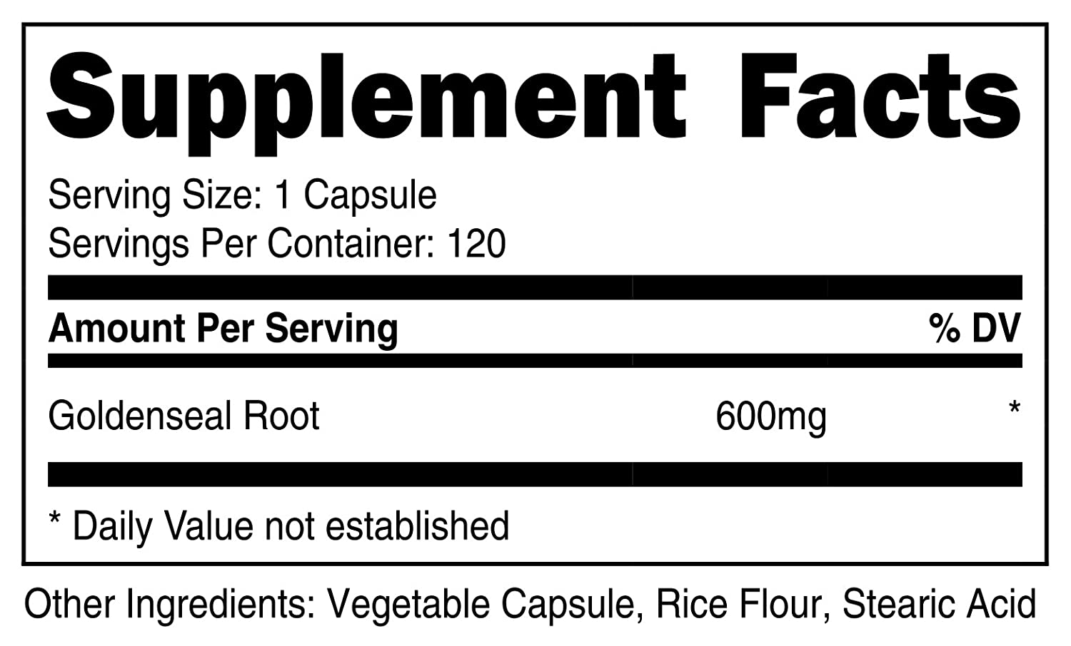 Nutricost Goldenseal Root 600mg, 120 Capsules 3 Bottles – Non-GMO, Gluten Free, Veggie Caps