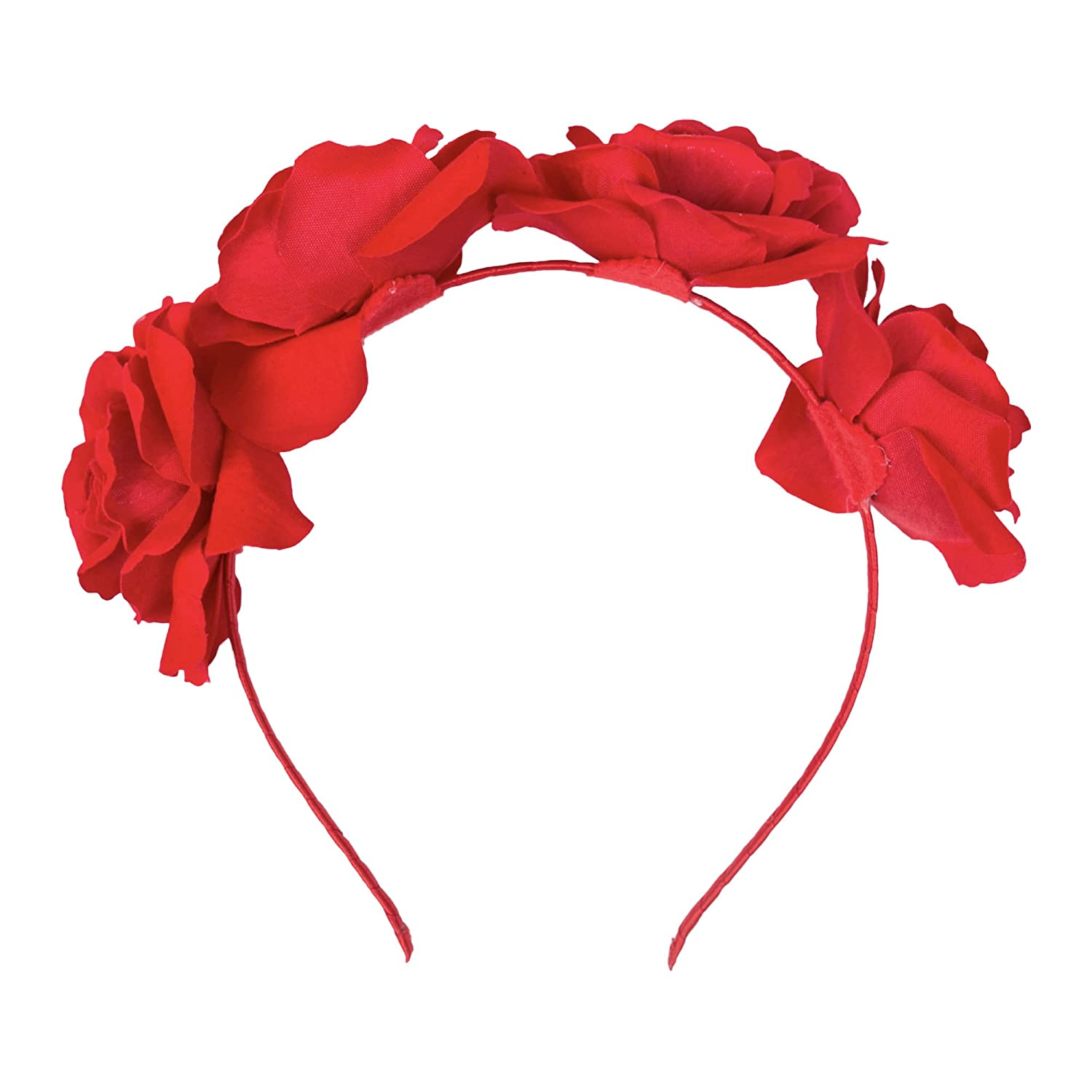 Adult / Kids Halloween 'Day of The Dead' Rose Flower Floral Festival Headband