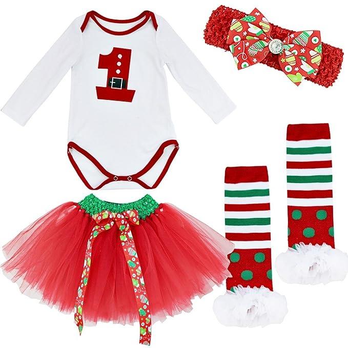Freebily Conjunto de Navidad para Bebé Niña Pelele Body ...