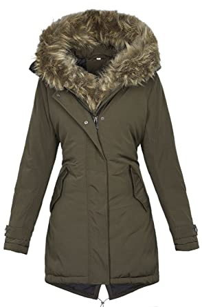 Golden Brands Selection Warme Damen Winter Jacke Winterjacke Parka Mantel  Kapuze Kunstfell B534  Amazon.de  Bekleidung d62bb8a221