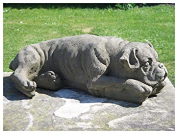 Genial Stone Boxer Dog Garden Statue