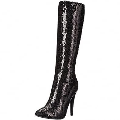 Ellie Shoes 511-TIN 5 Inch Heel Knee Boot Women/'s Size Shoe With Sequins