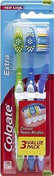 3-Count Colgate Extra Clean Full Head Toothbrush (Medium)