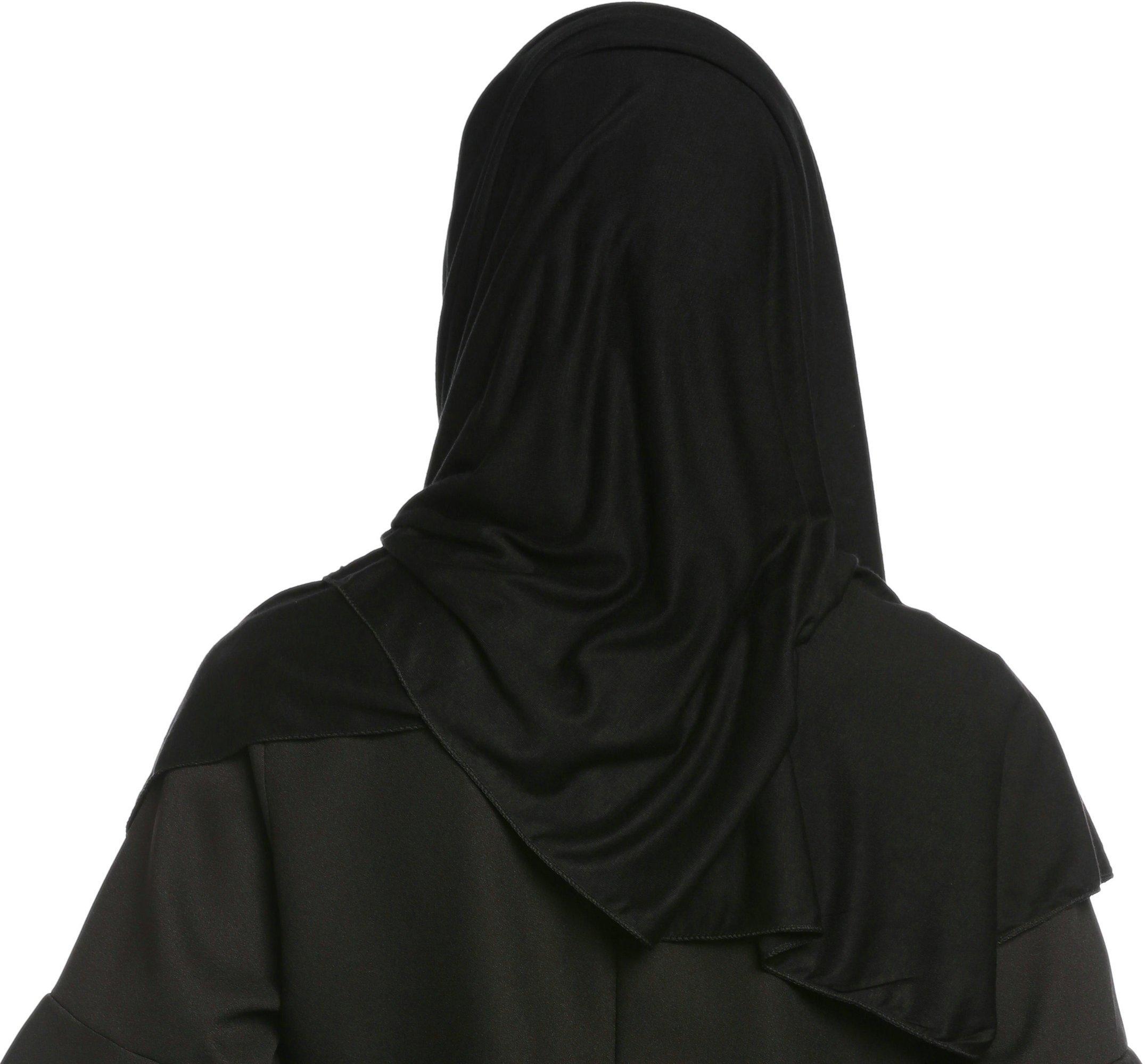 Ababalaya Fashion Womens Lightweight 100%Cotton Jersey Hijab Scarf, Black, One Size by Ababalaya (Image #2)
