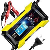 AOKBON Cargador Baterias Coche Moto 8A 12V/24V Cargadores de Bateria Automático Inteligente Protección Múltiple para…