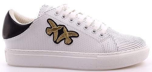 Scarpe Donna Sneakers PINKO Shine Baby Shine Svedese Sneaker ZZ1 BiancoNer  Nuove fae35f21023