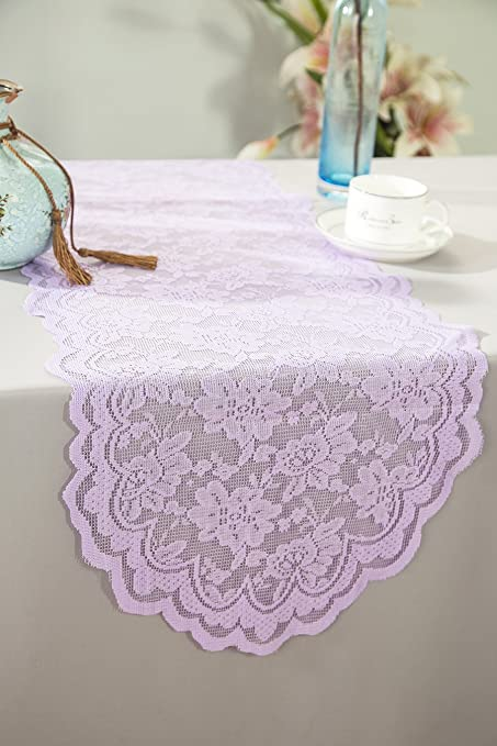 Wedding Linens Inc. Wholesale 13.5 in x108 in Lace Table Runner Wedding Table  Runner for