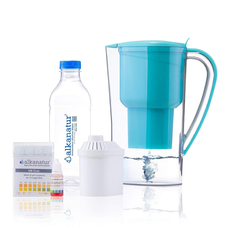 Jarra Alkanatur Drops. Alcaliniza, depura e ioniza agua. pH hasta 9,5. Libre de Bisphenol A. Duración del filtro 400L. Made in Spain.: Amazon.es: Industria, empresas y ciencia