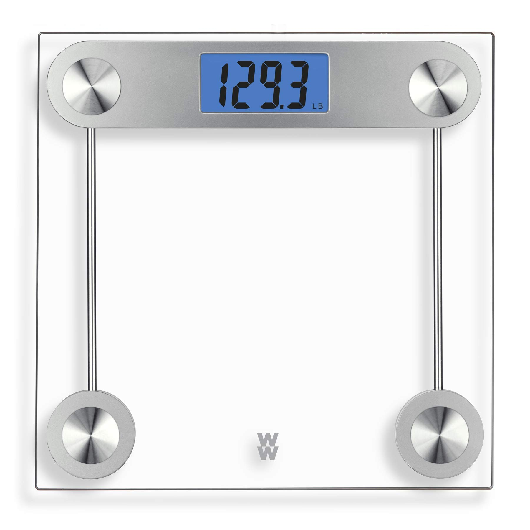 Weight Watchers by Conair Digital Glass Bathroom Scale; 400 lb. capacity; Elegant Gold Finish Bath Scale by Conair (Image #1)
