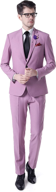 AK Beauty Fashion Lavender 3 Pieces Wedding Suits for Men Groom Tuxedos Men Suitsn