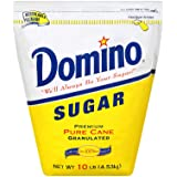Domino Premium Pure Cane Granulated Sugar, 10 lbs. (pack of 2)
