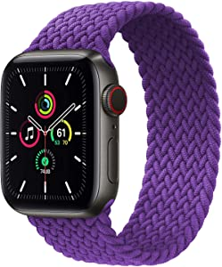 Solo Loop Band Compatible for Apple Watch Strap 38mm 40mm 42mm 44mm,Stretchable Braided with No Clasps or Buckles Sport Elastics Women Men Replacement Wristband for iWatch Series 6/SE/5/4/3/2/1