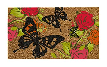 Evergreen Flag Butterflies Coir Doormat