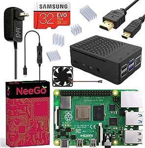 NEEGO Raspberry Pi 4 4GB Complete Kit - 4GB RAM
