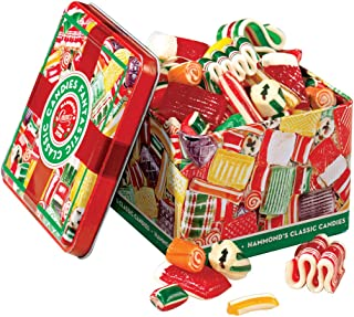 product image for Hammond's Candies - Old Fashioned Holiday Classics Mix Hard Candy in Decorative Tin, Includes Assorted Ribbon, Pillow, & Hard Candies, Handcrafted in the USA