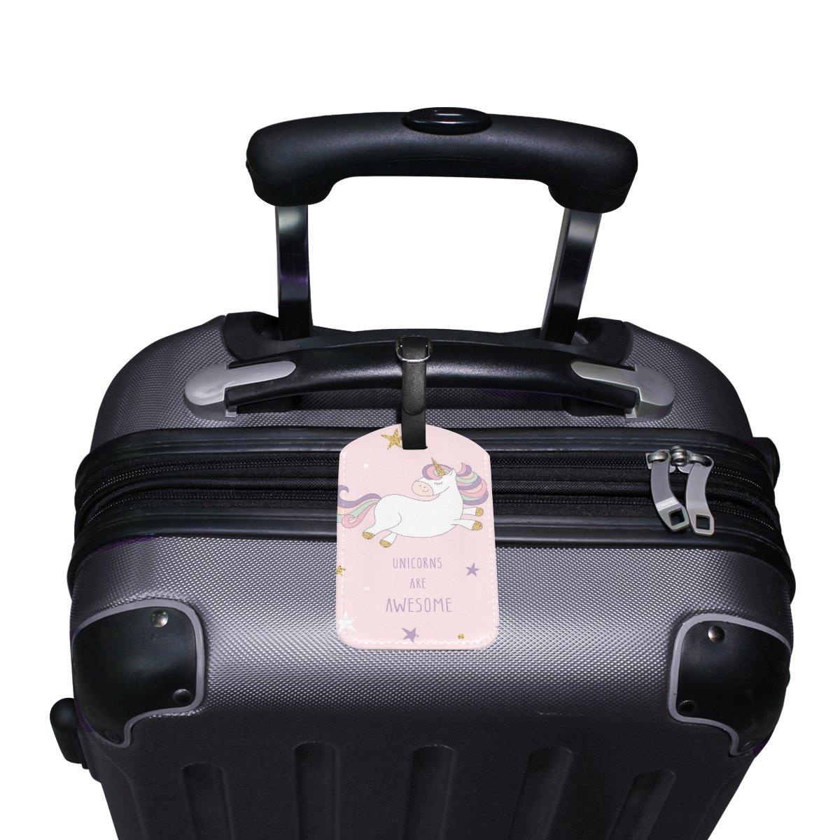 Saobao Travel Luggage Tag Night Sky PU Leather Baggage Travel ID