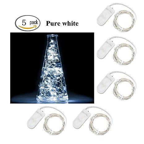 Luces de la secuencia de la Navidad,InteTech Paquete de 5 luces estrelladas con 20