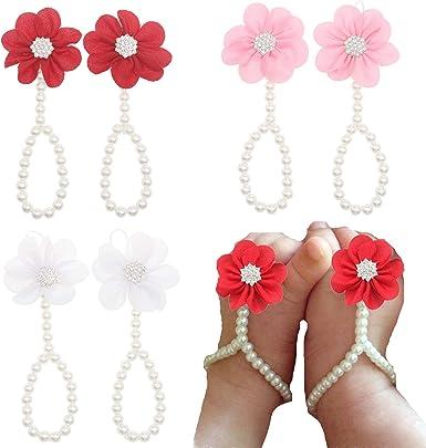 Bloomposh Baby Girls Barefoot Sandals