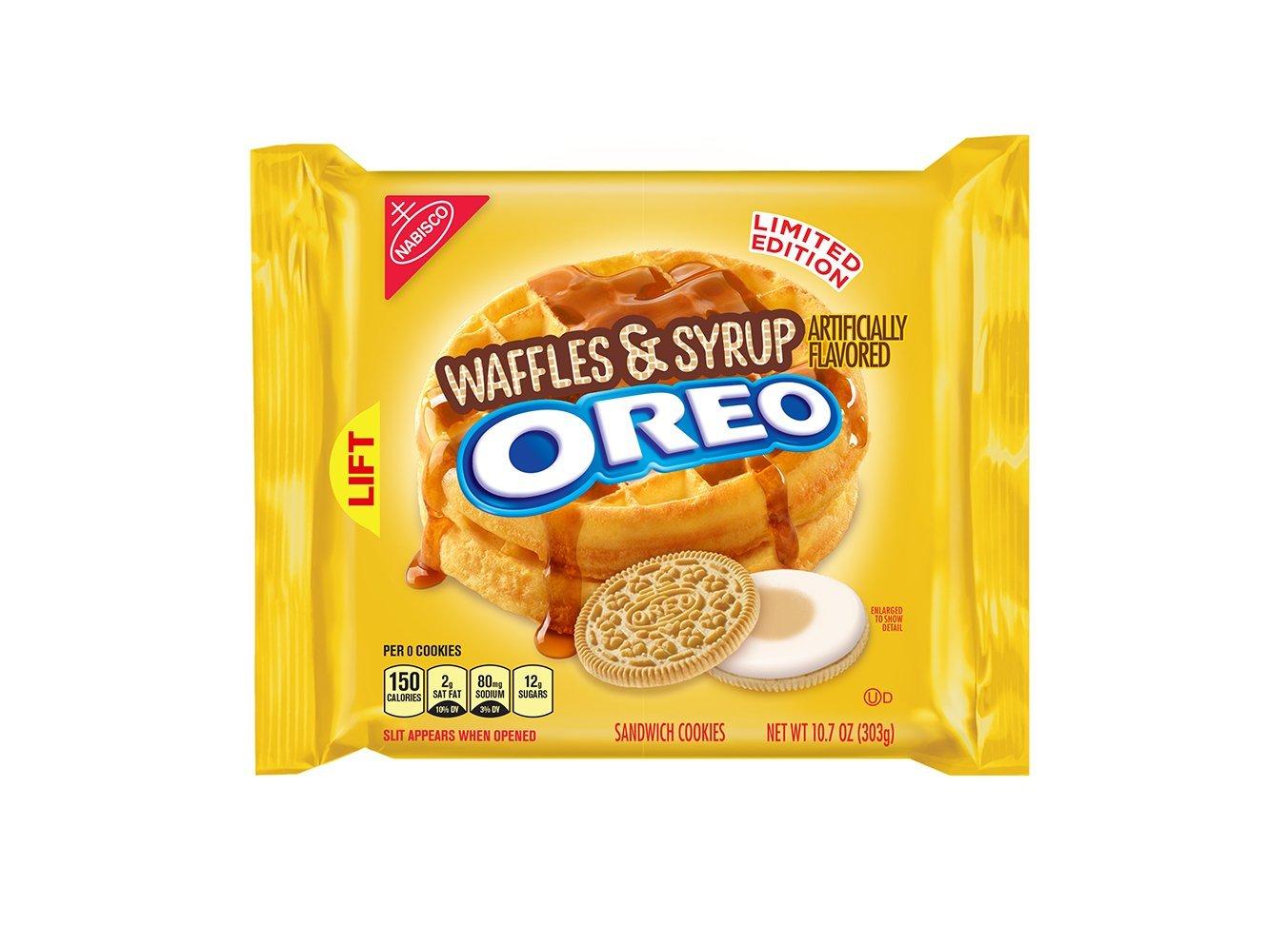 Oreo Waffles & Syrup Sandwich Cookies 10.7 Ounce