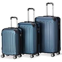 Flexot Reisekoffer 2045 Größe M L XL oder 3er Set in allen Farben Trolley Reisegepäck Reisekoffer-Set - Koffer - Trolley - Hartschale - Bordcase - 4 Reifen 360° - Modell 2045 - ABS - Aluminium Griff