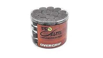 overgrips Pro Elite Confort Perforados Negros. Bote de 60 unds.