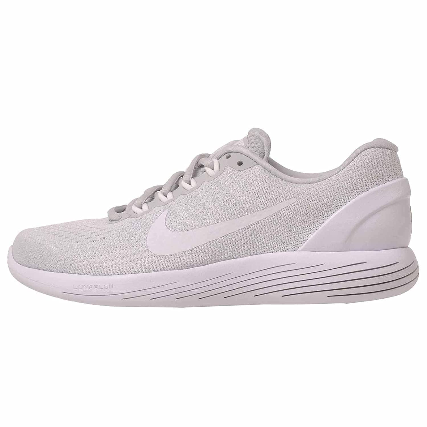 baskets pour pas cher ef591 7dd6c Nike Lunarglide 9 Pure Platinum/White/White Womens Running Shoes Size 7.5