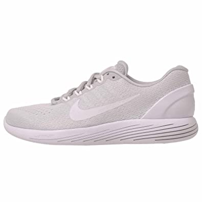 sneakers for cheap ad1c0 db70c Nike Lunarglide 9 Pure Platinum/White/White Womens Running Shoes Size 7.5
