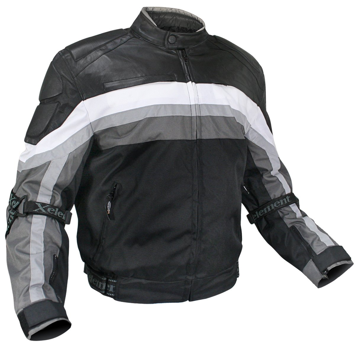 Amazon.com: Mens Armored Black and Grey Tri-Tex Fabric and Leather Trim Jacket with Level-3 Advanced Armor and Kevlar Protection - Size : Large: Automotive