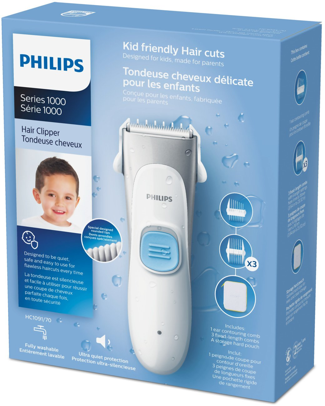 Philips Kids Hair Clipper HC1091/70 - child safe, ultra quiet by Philips Norelco (Image #12)