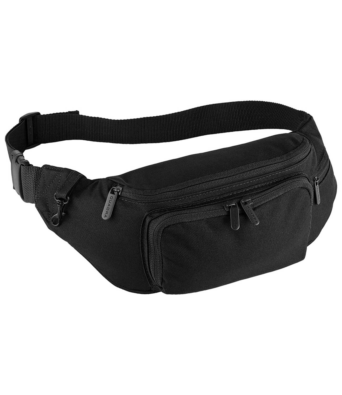New Quadra Classic Travel Belt Hip Bum Bag Black One Size QD012BLAC