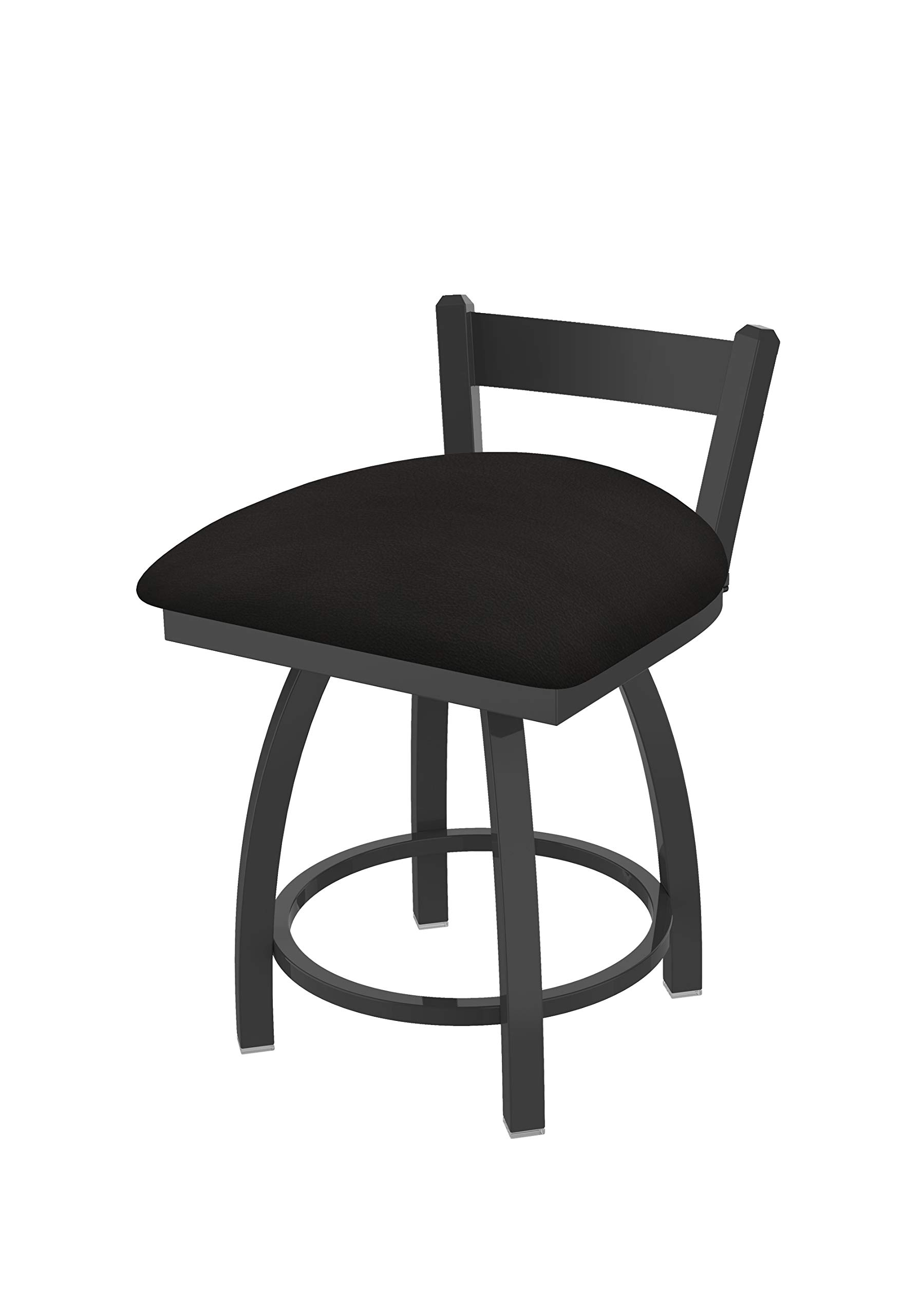 Holland Bar Stool Co. 82118PW003 821 Catalina 18'' Low Back Swivel Vanity Pewter Finish and Canter Espresso Seat Bar Stool