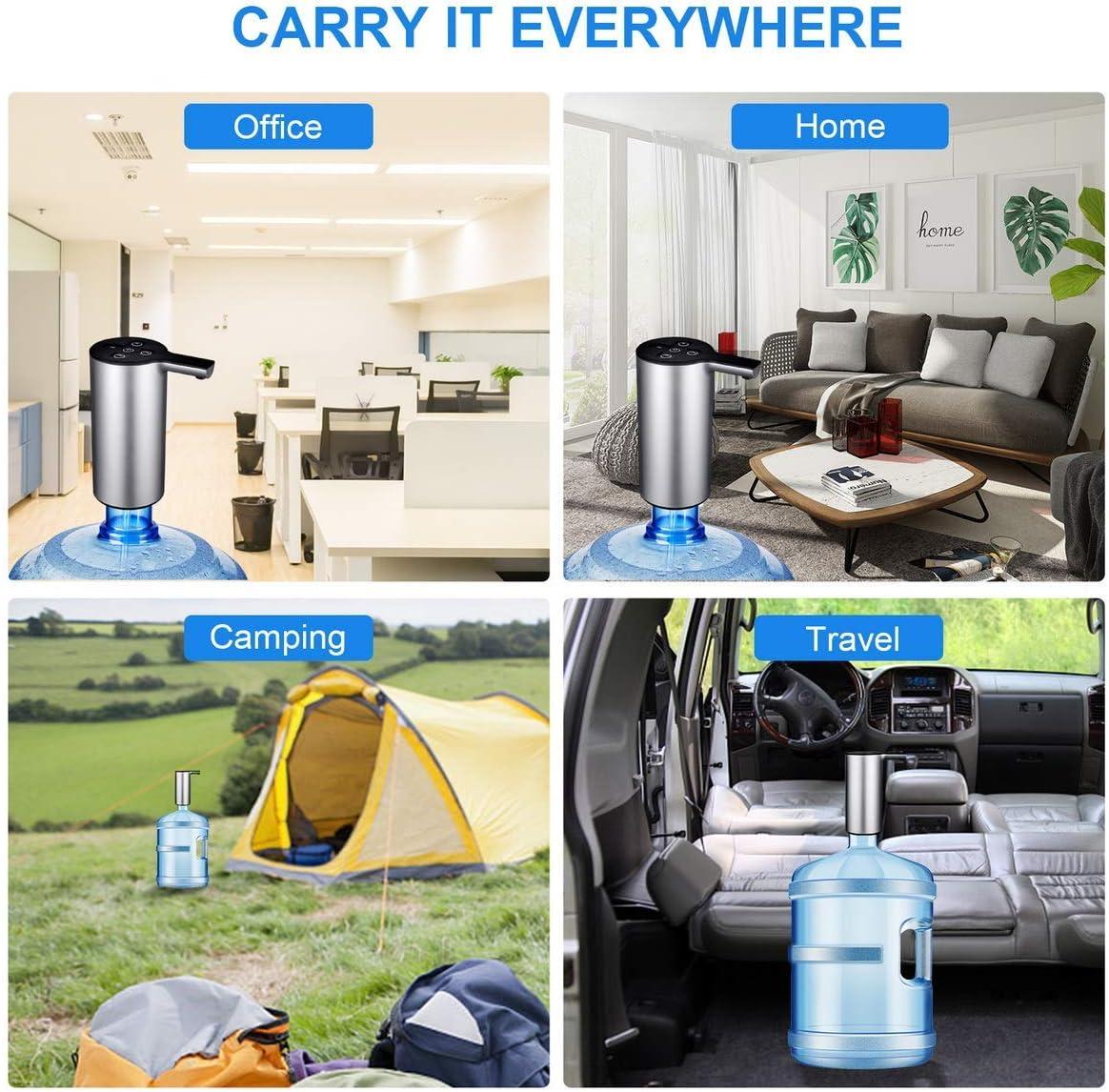 Auto Bottled Water Pump with Volume Control Wireless Water Dispenser Rechargeable Gallon Water Bottle Jug Dispenser Pump