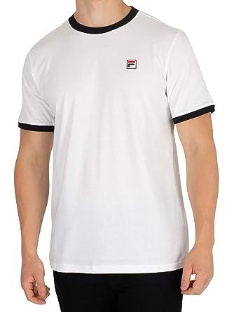 Fila Vintage Herren Wesentliche Vintage T-Shirt, Weiß: Amazon.de ...